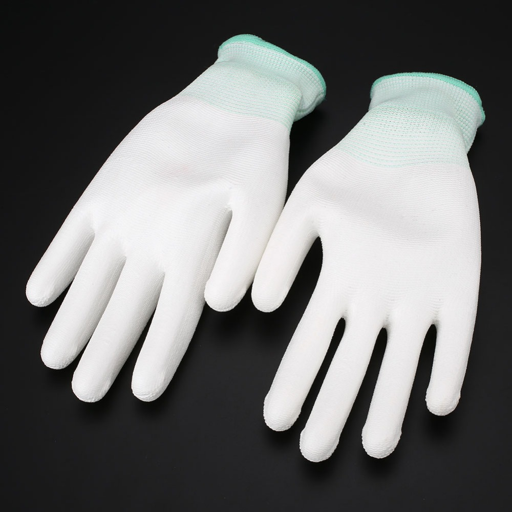 1 Pair Nylon Polyester PU Safety gloves Working Gloves Workplace Anti-Static Protection<br><br>Aliexpress