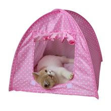 1pce Pet Tent Foldable Dogs Cats Tent House Pets All Seasons Dirt-resistant Outdoor Camping Home Travel House Pet Tent XP0426