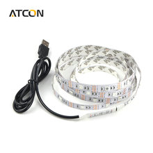 1Pcs DC 5V USB Power Supply Decor RGB LED Strip light lamp Tape SMD 3528 / 5050 50CM 1M 2M Ribbon For TV Background Lighting