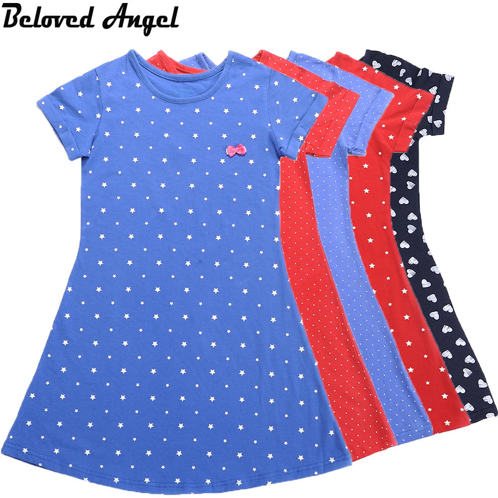 2017 New Design 5 Style Girls Summer Dresses Tunic Robe Baby Clothes Kids Birthday Party Wear Children Princess Dress Costume(China (Mainland))