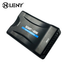ONLENY 1080P SCART To HDMI Video Audio Upscale Converter Adapter for HD TV DVD for Sky Box STB Plug and Play