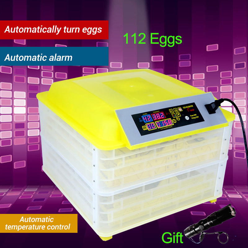 Automatic Egg Incubator China 112 Digital Clear Egg Turning Temperature Control Farm Hatchery Machine chicken egg Hatcher (1)