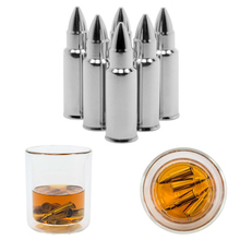 304 Stainless Steel Bullets Whisky Stone Reusable Beer Wine Cooling Chilling Ice Cube Bar Tool- Silver