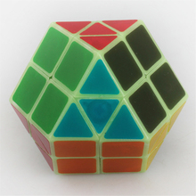 XM 7 Color Rainbow Cube Ten Tetrahedron Glow In The Dark Puzzle Cube Strange-shape Magic speed Cube Noctilucence Action figures