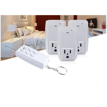 Smart  USA Plug 1 Wireless Remote Control, 3 Sockets Receiver Smart Power Socket Switch Family Electrical Remote Socket