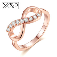 Buy X&P Fashion Luxury Crystal Rose Gold Rings Women Girl Wholesale Statement Alloy Zircon Ring Jewelry Gift for $1.45 in AliExpress store