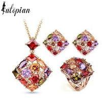 Iutopian Brand Amazing Luxurious Queen Jewelry Set Made With Austrian Crystal Stellux Zirconia Top Quality Party Jewelry #RA026S