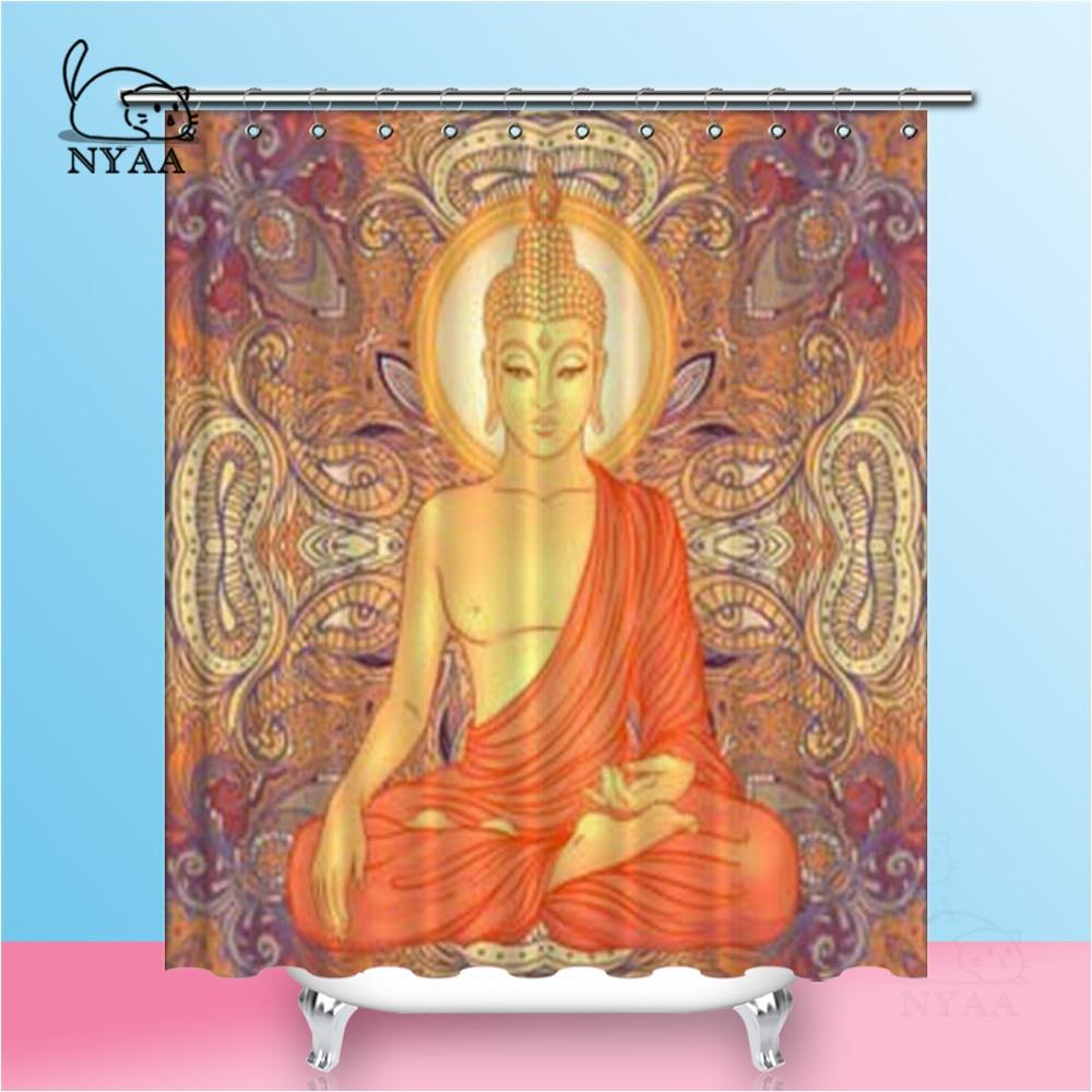 "72X72/"" Waterproof Polyester Bathroom Shower Curtain Set /&12Hooks-India Elephant"