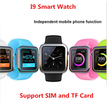 I9 Smart Watch MTK2502C 240*240 Support SIM TF Card Smartwatch Bluetooth for Apple iphone Android Smart Phone Wrist Wearable(China)