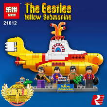 LEPIN Ideas The beatles Yellow Submarine Drag Racer Car Building Blocks Bricks Model Kids Toys Marvel