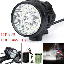 MUQGEW Super Bright High Quality 30000LM 12 x CREE XM-L T6 LED 6 x 18650 Bicycle Cycling Light Waterproof Lamp Limited Promotion