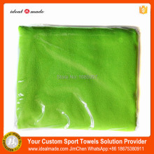 100pcs/lot free shipping 100% microfiber 5 star thin soft sport towel solid plain color dye from China manufacturer