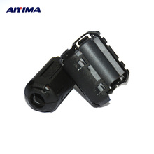 AIYIMA 10pcs new EMI TDK 9mm Clip-on RFI Filter Snap Around Ferrite FOR AUDIO VIDEO Cable D25 free shipping
