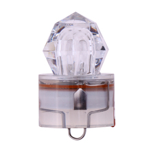 Hot Sells white LED Deep Drop Underwater 1000 meters Near Hanging Net Diamond Flashing Bait Lure Squid Strobe(China)
