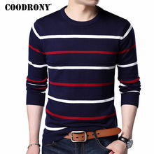 COODRONY O-Neck Pullover Men Brand Clothing 2017 Autumn Winter New Arrival Cashmere Wool Sweater Men Casual Striped Pull Men 152(China)