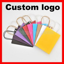 (1000pcs/lot) size W21xH27x11cm custom logo gift paper bag with handles