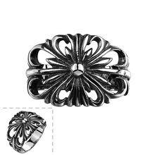 Tiger Totem Free Shipping Fashion Jewelry Stainless Steel new Design Hollow engraving Rings Men Punk Vintage Ring anel masculino(China)
