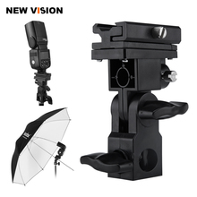 B Type Flash Hot Shoe Adapter Trigger Umbrella Holder Swivel Light Stand Bracket(China)