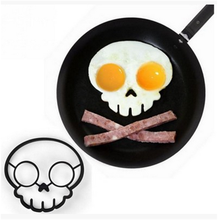 Buy Silicone Egg Mold Non-stick Skull Eggs Fried Frying Mould Breakfast Pancake Egg Ring Shaper Mold Kitchen Baking Cooking Tool for $2.07 in AliExpress store