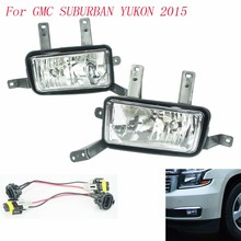 Fog light for GMC SUBURBAN YUKON 2015 fog lamps Clear Lens Bumper Fog Lights Driving Lamps / Daytime Running light