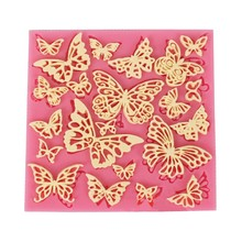 many 3D butterfly lace cooking tools fondant baking DIY Cake Sugar chcolate Shaped Silicone Craft Tray candy mold Kitchen Access