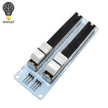 Buy Electronic Building Block 10K Double Row Sliding Linear Potentiometer Module Arduino Mixer Linear Sliding Resistance for $3.80 in AliExpress store