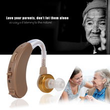 Digital Sound Amplifier Behind-Ear Hearing Aid With Carriage Case Kit With Earhook Batteries Earplugs Hearing Aids Care