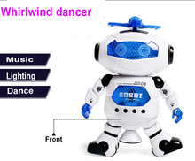 Crazy One Piece Electronic Lighting Kids Toys for Children 360 Rotate Robot Dancer(China)