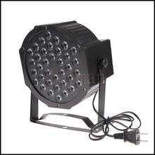 Free Shipping 36 LEDS Flat Par Lights Stage light Lamp with US EU Plug for Club Party Disco DJ KTV Bar(China)