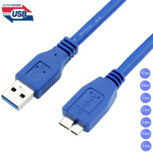 USB 3.0 A Male AM to Micro B USB 3.0 Micro B Male USB3.0 Cable 0.3m 0.6m 1m 1.5m 1.8m 3m 5m 1ft 2ft 3ft 5ft 6ft 10ft 1 3 5 Meter
