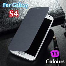 Slim Shell Original Battery Leather Case Flip Back Cover Holster Sleeve Bag For Samsung Galaxy S4 I9500 I9505 + Screen Protector