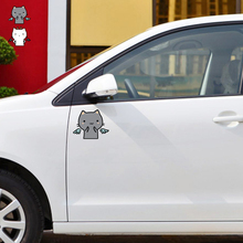 Car-styling Black And White cat Funny Cartoon Angel And Devil Car Sticker /Decal For Volkswagen Skoda Polo Golf Opel Kia Toyota