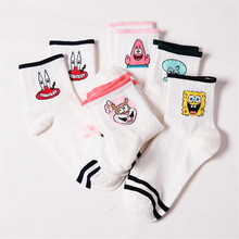 Fashion Cartoon Character Cute Short Socks Women Harajuku Cute Patterend Ankle Socks Hipster Skatebord Ankle Funny Socks Female(China)