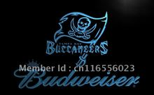 LD288- Tampa Bay Buccaneers Budweiser LED Neon Light Sign home decor shop crafts(China)