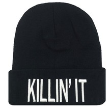 2016 Fashion Flat Embroidery Beanies For Men And Women The Killin It Hip Hop Hats Knitted Letter Caps 7 Models For Choose(China)