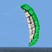 New  High Quality  2.5m Green Dual Line Parafoil Kite  WithFlying ToolsPower Braid Sailing Kitesurf Rainbow Sports Beach