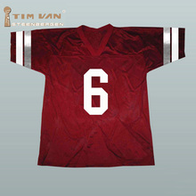 TIM VAN STEENBERGE Saved By The Bell AC Slater #6 Bayside American Football Jersey Stitched Sewn-Red