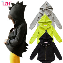 LZH 2017 Autumn Winter Jacket For Girls Boys Dinosaur Coat Baby Boys Jacket Kids Outerwear Infant Girls Coat Children Clothes