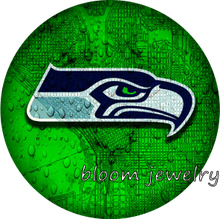 BG50032 Football NFL Seattle Seahawks  snaps button fit 18mm 20mm snap button jewelry bracelet  Gift  Sports  Good quality
