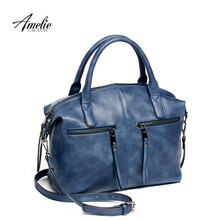 AMELIE GALANTI brand new fashion women tote bag with a pillow bag high quality PU handbag solid shoulder messenger bags
