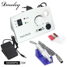Dmoley Electric Nail Drill Machine Pro White Black Diamond Shape Nail Drill File Machine Maniure Pedicure Drill Kits Nail Tools(China)