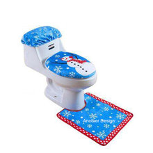 3PCS/PACK Snowman toilet seat cover bathroom accessories christmas decoration for home new Year decoration natal christmasgift