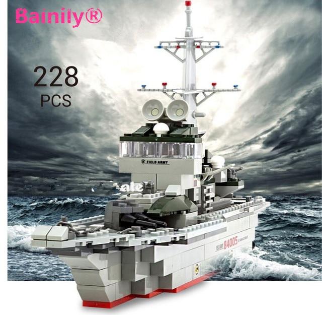 228pc Military Ships Building Blocks Set Warships Model Technic Designer Gift Toys Compatible Legoe City Military Education<br><br>Aliexpress
