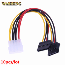 10pcs Serial ATA SATA 4 Pin IDE Molex to 15 Pin HDD Power Adapter Cable Hard Drive Adapter HY416(Hong Kong)