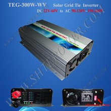 AC 90-130V /AC 190-260V switch DC 22-60v solar panel inverter, 300w tie grid inverter