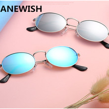 New Fashion Luxury Metal Sunglasses Women Men Optical Shades Frame Sun Glasses Color Film Reflective Glasses oculos de sol UV400(China)