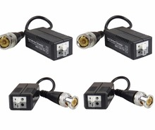 STARAUDIO 2Pairs 4Pcs 1CH Black HD Passive Video Balun Analog AHD, HD-CVI, HD-TVI, Push-In Terminal SHD-213B