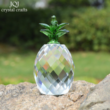 DIY K9 Crystal Pineapple Paperweight Home Wedding Fengshui Polished Figurine Gifts For birthday party decorations kids guests(China)