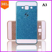 hot cheap case for samsung galaxy a3 a300 case bling skin glitter Bag Hard by Plastic + pc Back cover mobile phone cases