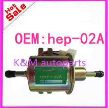 High quality free shipping Universal Diesel Petrol Gasoline Electric Fuel Pump HEP-02A Low Pressure 12V HEP02A K-M(China)